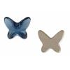 Swarovski Flatback 2854 Butterfly 8mm Denim Blue